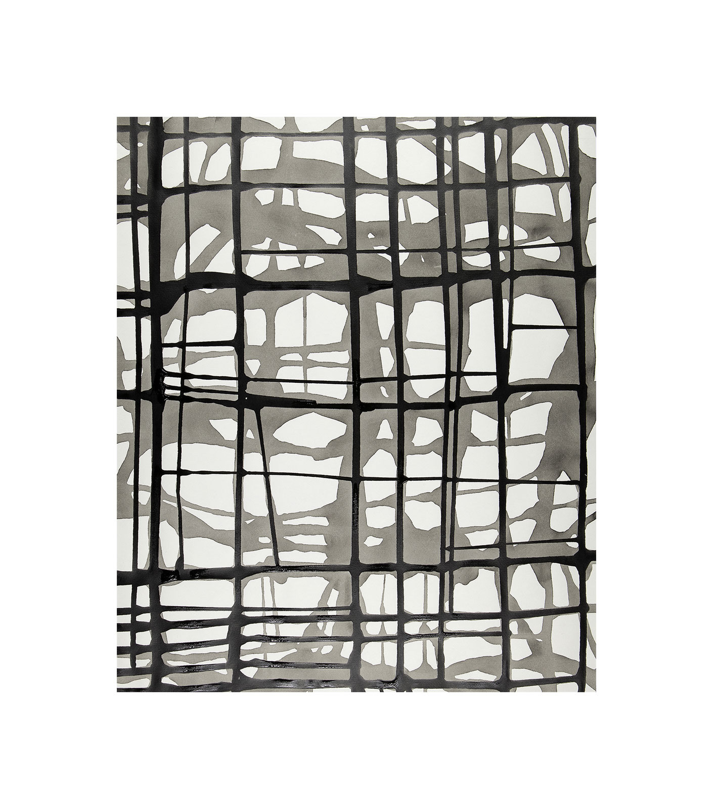 Ink 3.2, indian ink on paper, wash drawing, black and white artwork, jf escande, contemporary art