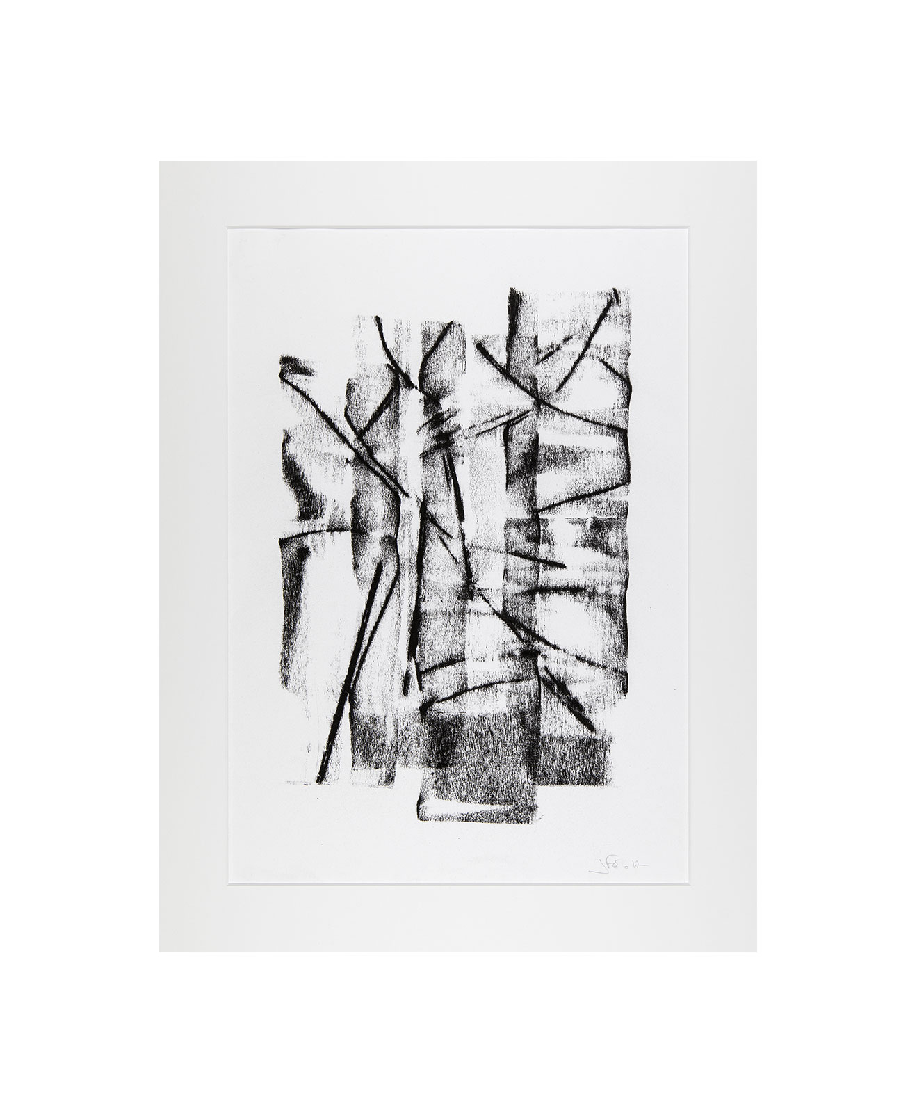 Cha 1.1, Charcoal on paper, black and white artwork, drawing, jf escande, contemporary art