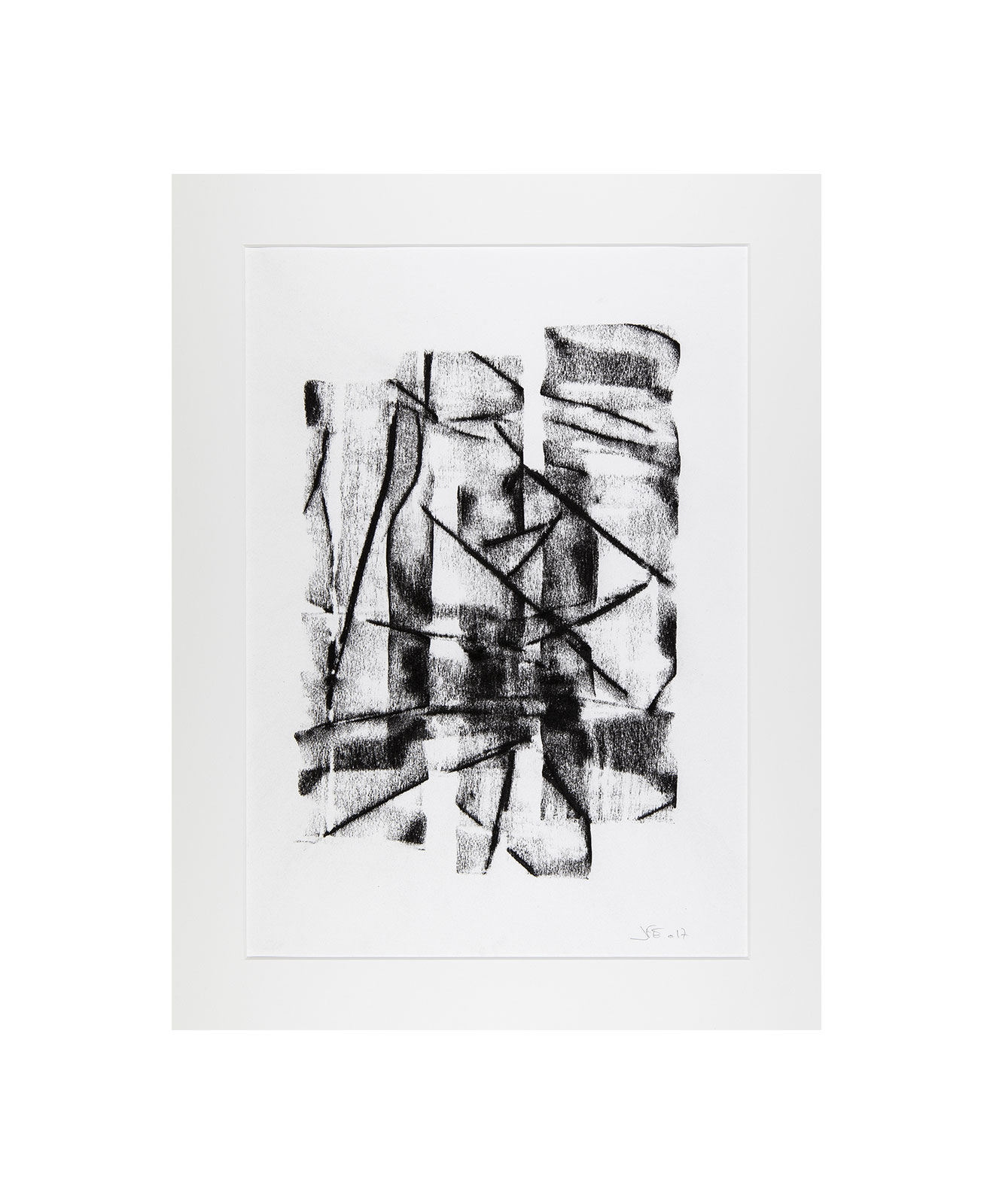 Cha 1.10, Charcoal on paper, black and white artwork, drawing, jf escande, contemporary art