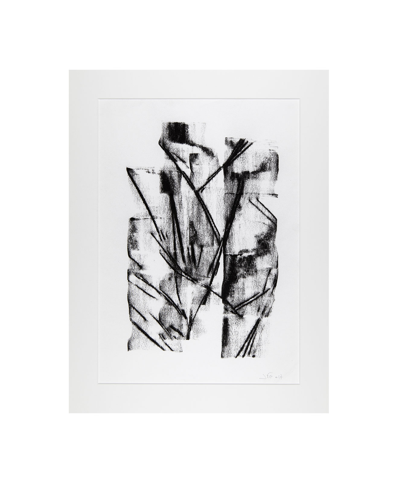 Cha 1.11, Charcoal on paper, black and white artwork, drawing, jf escande, contemporary art