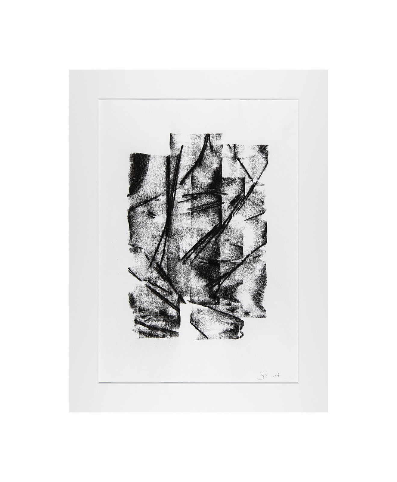 Cha 1.13, Charcoal on paper, black and white artwork, drawing, jf escande, contemporary art