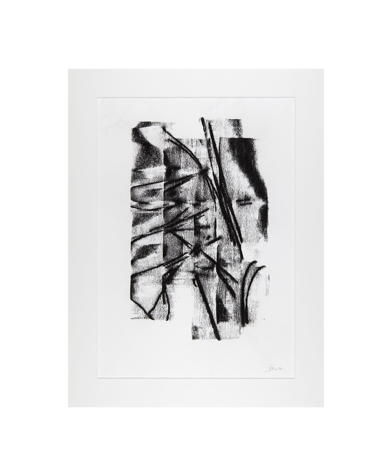 Cha 1.14, Charcoal on paper, black and white artwork, drawing, jf escande, contemporary art