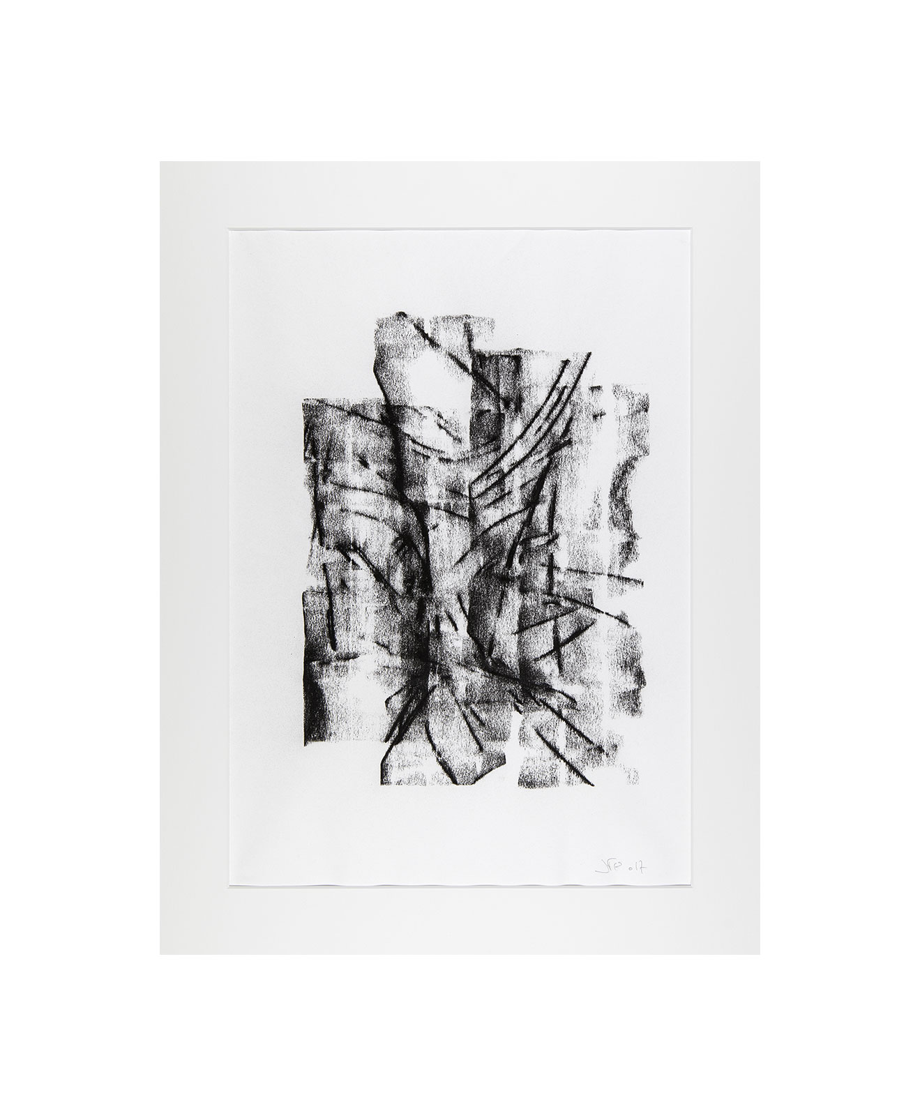 Cha 1.16, Charcoal on paper, black and white artwork, drawing, jf escande, contemporary art