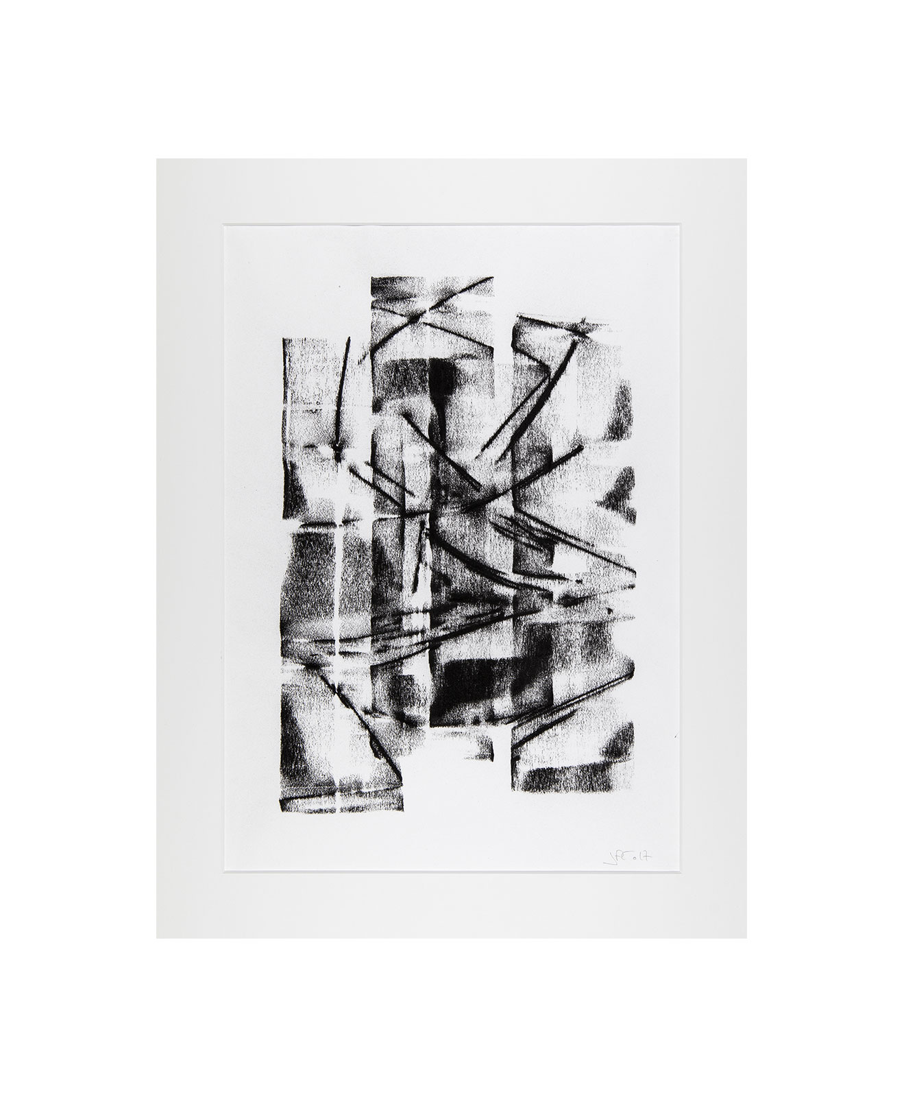 Cha 1.17, Charcoal on paper, black and white artwork, drawing, jf escande, contemporary art