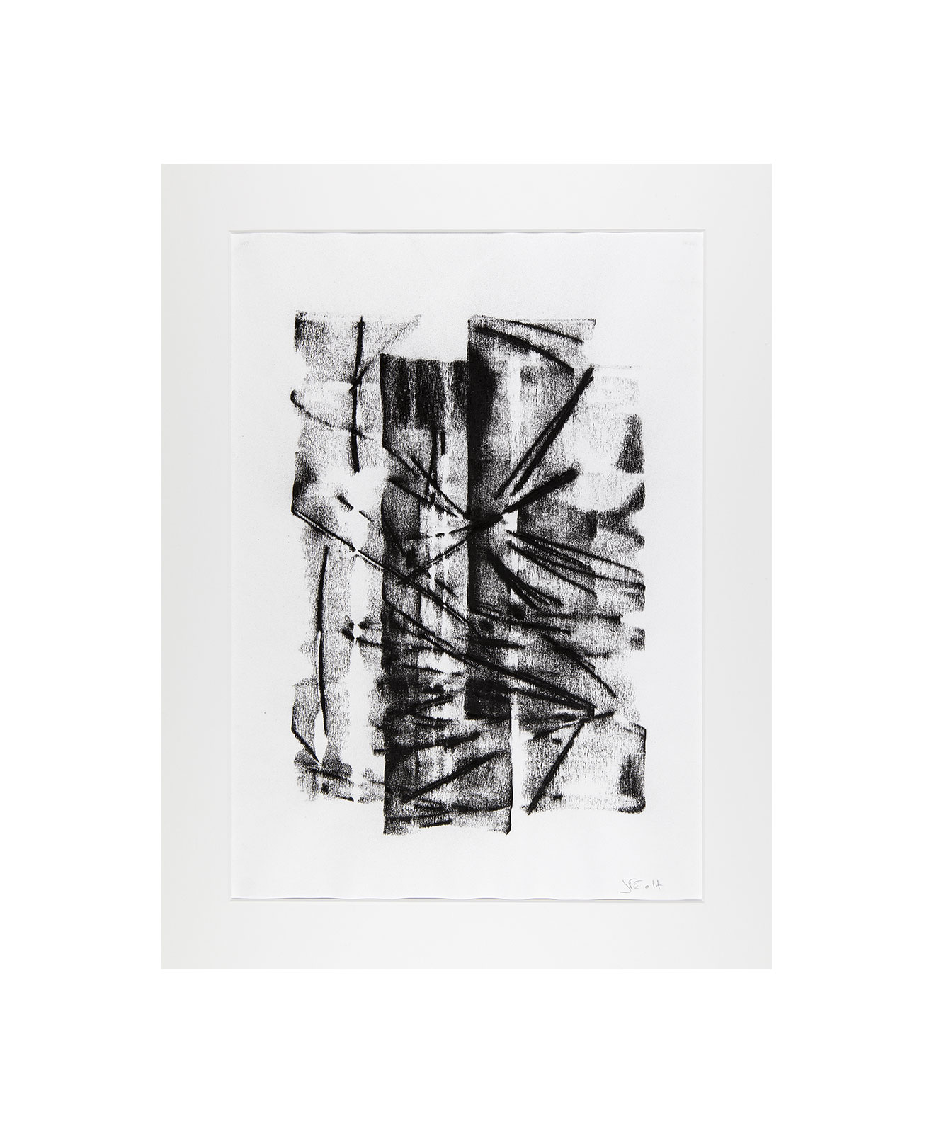 Cha 1.18, Charcoal on paper, black and white artwork, drawing, jf escande, contemporary art