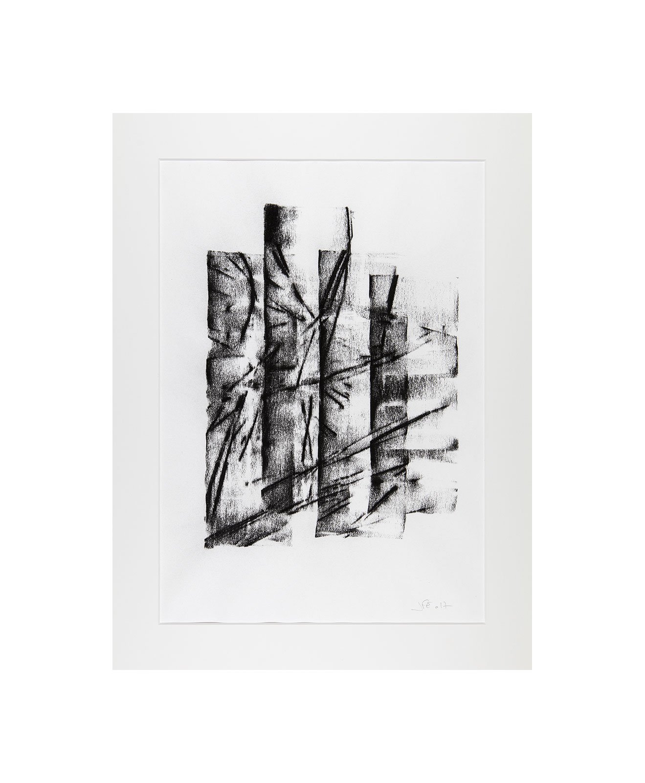 Cha 1.19, Charcoal on paper, black and white artwork, drawing, jf escande, contemporary art