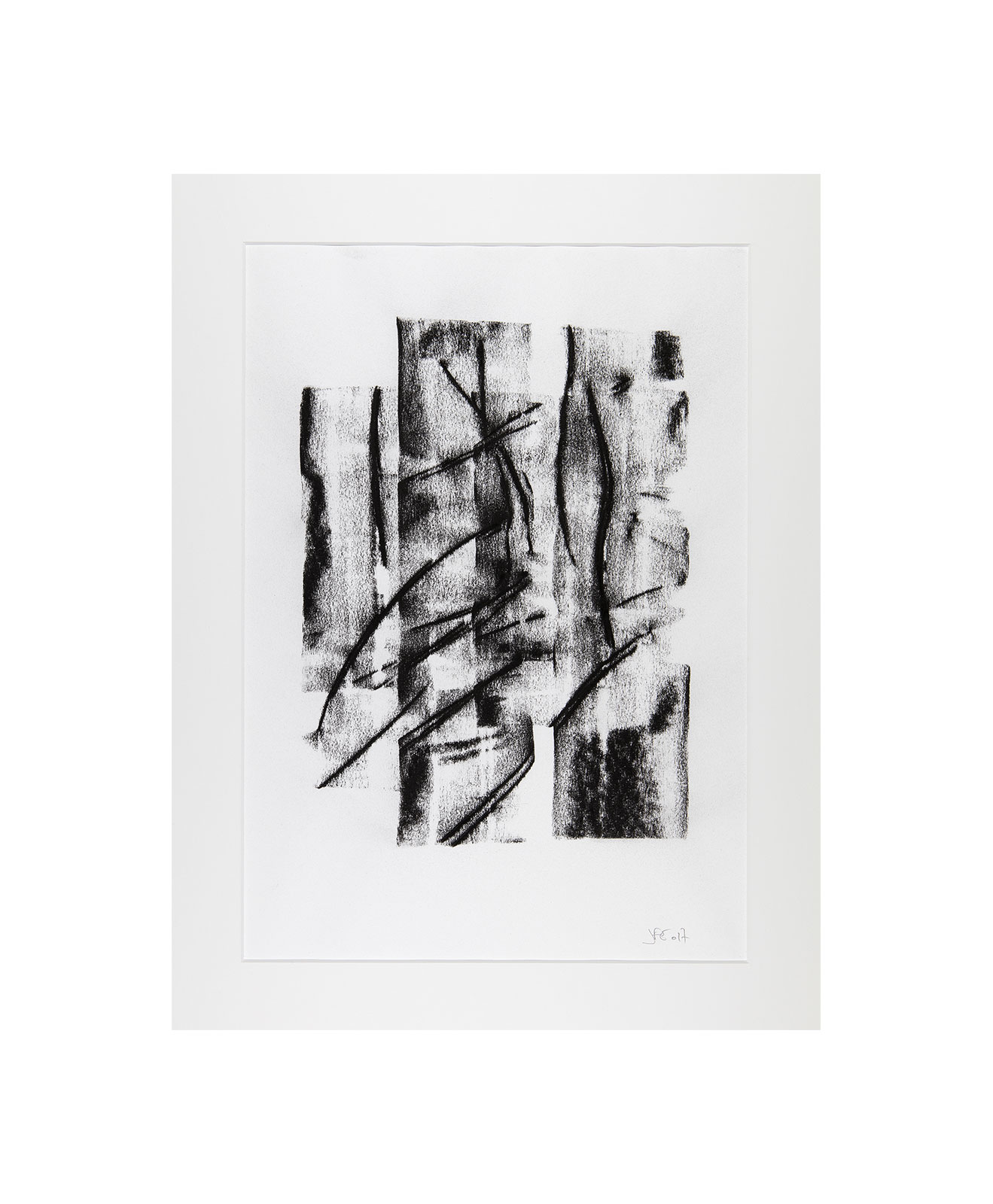 Cha 1.21, Charcoal on paper, black and white artwork, drawing, jf escande, contemporary art