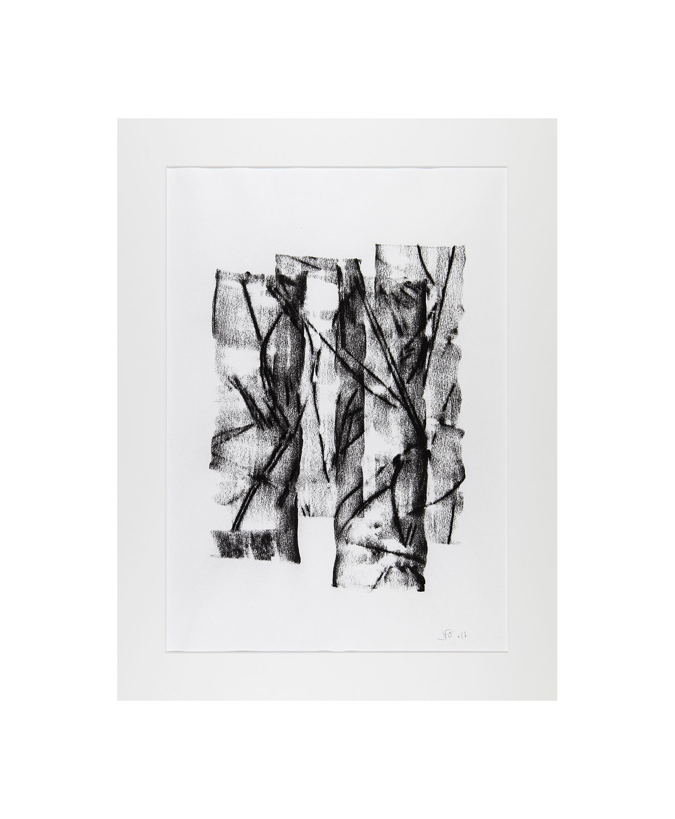Cha 1.22, Charcoal on paper, black and white artwork, drawing, jf escande, contemporary art