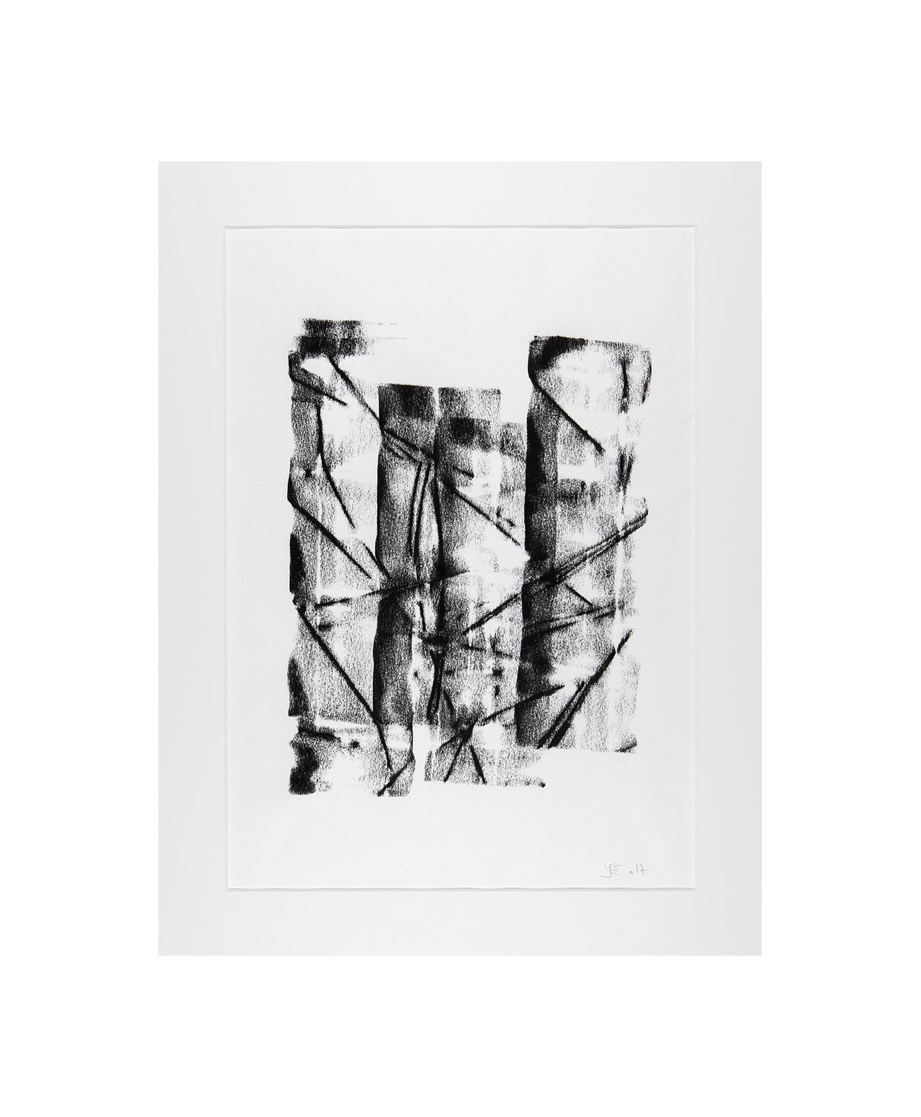 Cha 1.23, Charcoal on paper, black and white artwork, drawing, jf escande, contemporary art