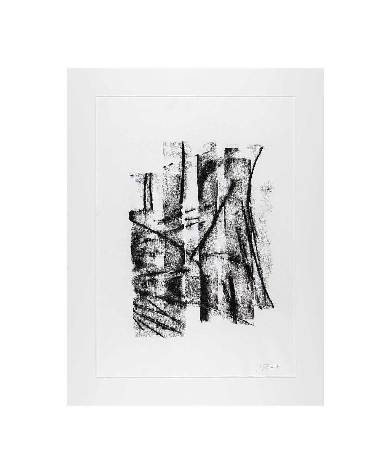Cha 1.26, Charcoal on paper, black and white artwork, drawing, jf escande, contemporary art