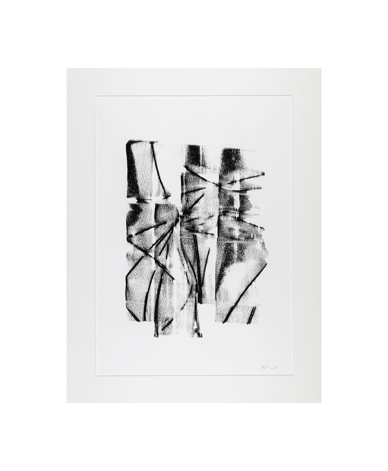 Cha 1.28, Charcoal on paper, black and white artwork, drawing, jf escande, contemporary art