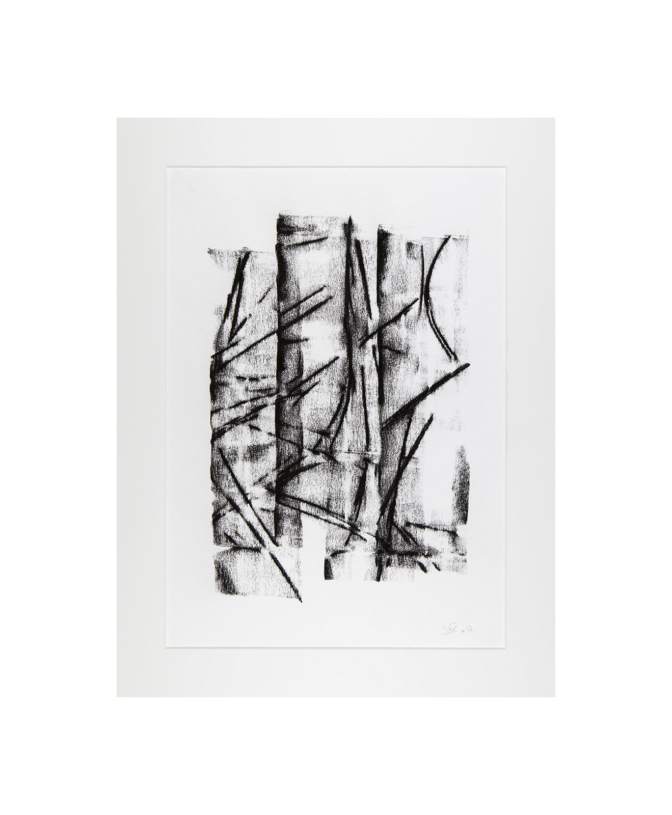 Cha 1.3, Charcoal on paper, black and white artwork, drawing, jf escande, contemporary art