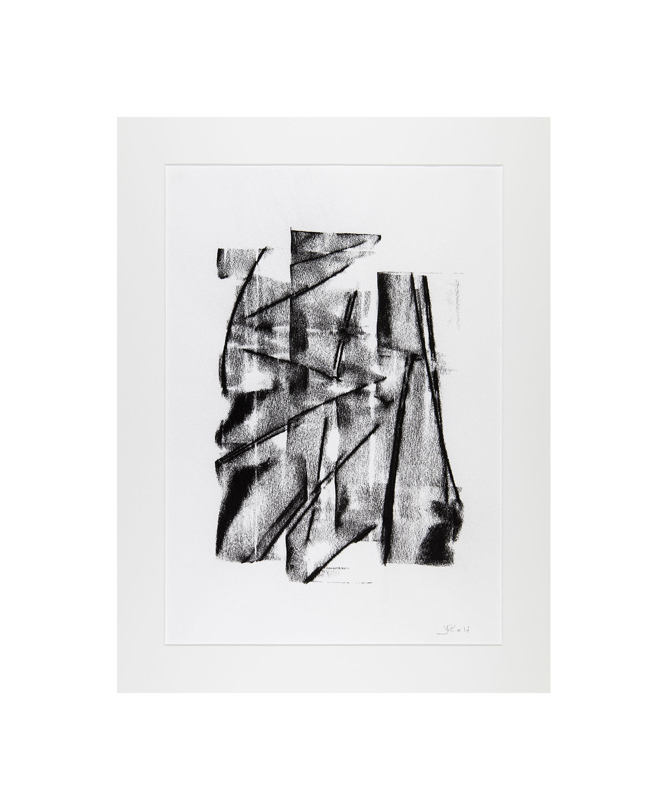 Cha 1.31, Charcoal on paper, black and white artwork, drawing, jf escande, contemporary art