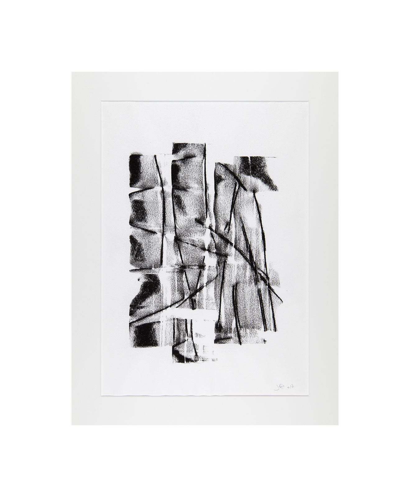 Cha 1.32, Charcoal on paper, black and white artwork, drawing, jf escande, contemporary art