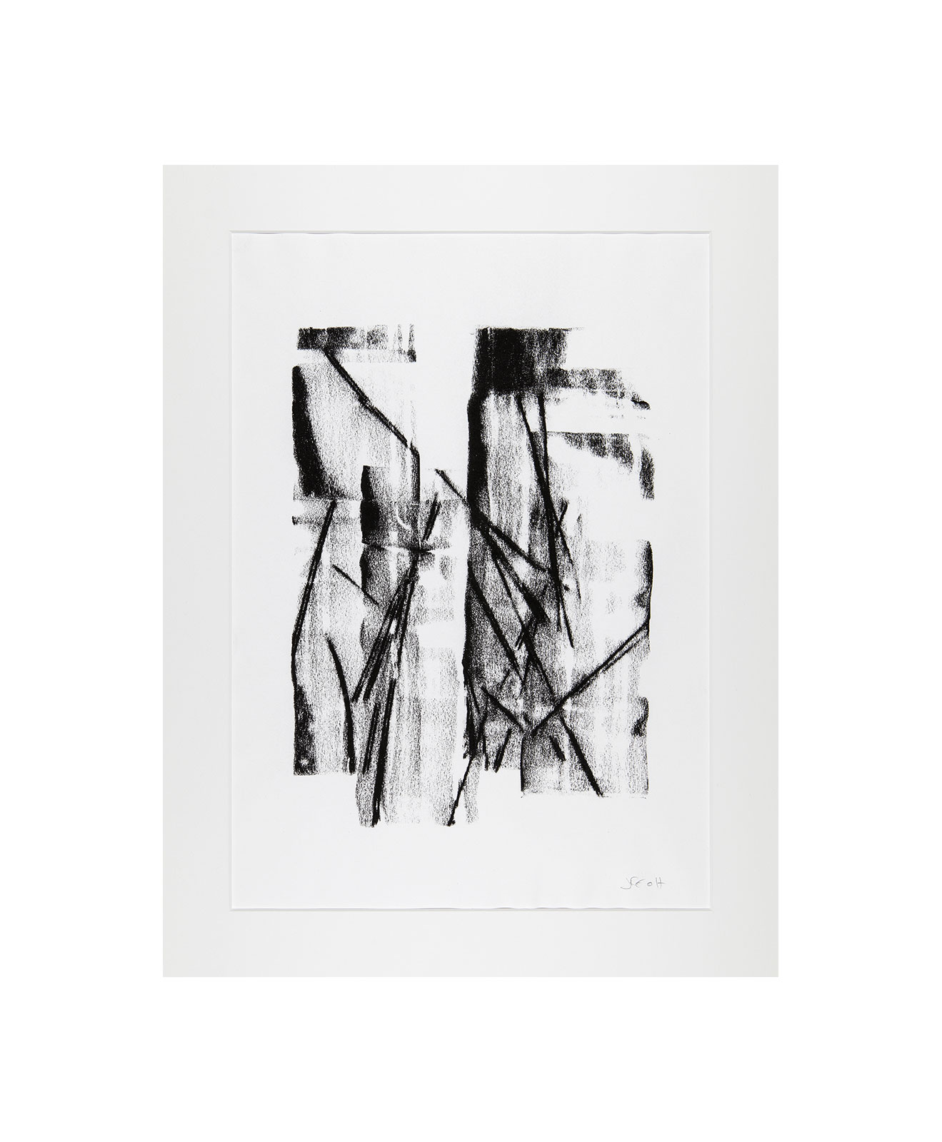 Cha 1.33, Charcoal on paper, black and white artwork, drawing, jf escande, contemporary art