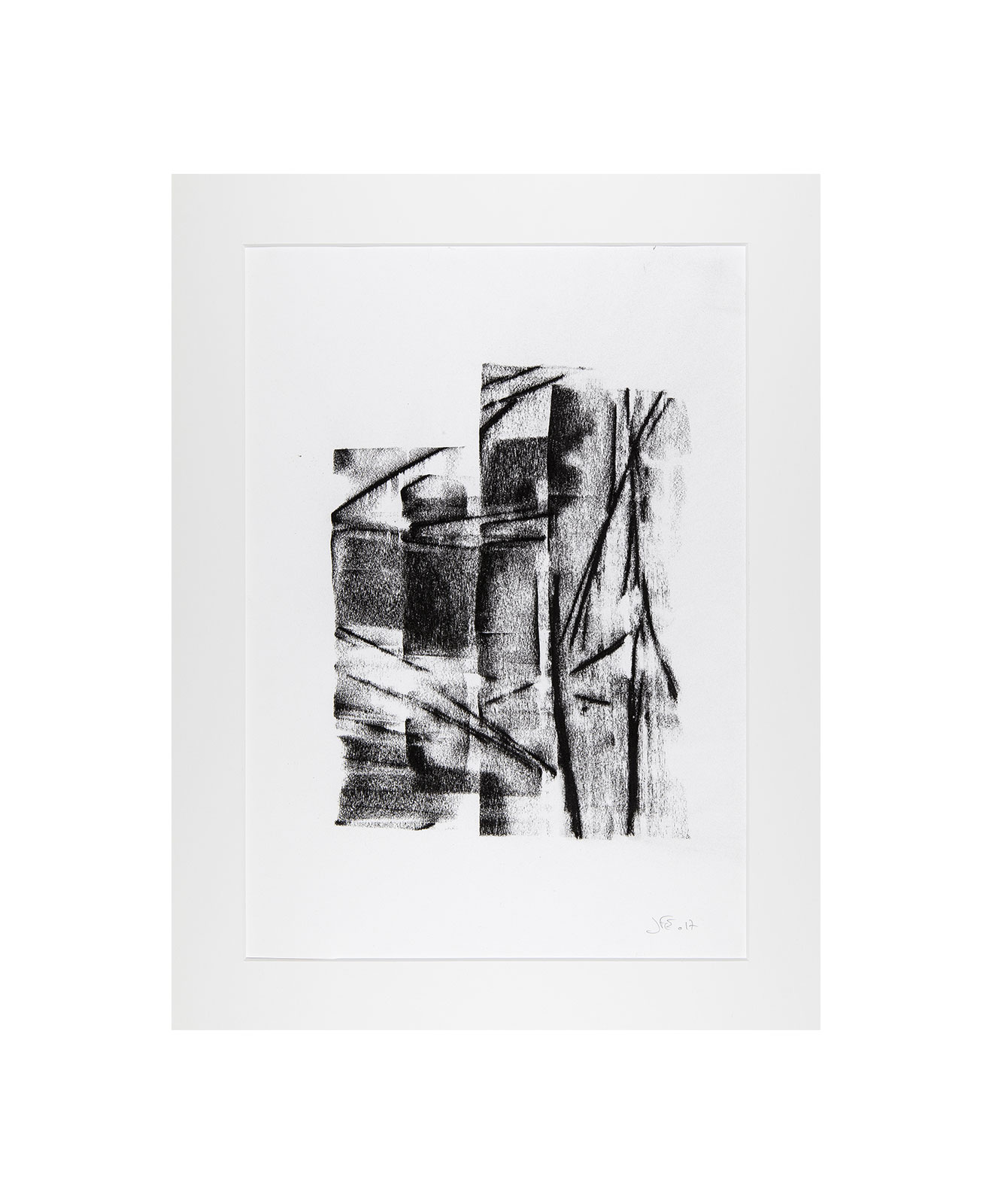 Cha 1.4, Charcoal on paper, black and white artwork, drawing, jf escande, contemporary art