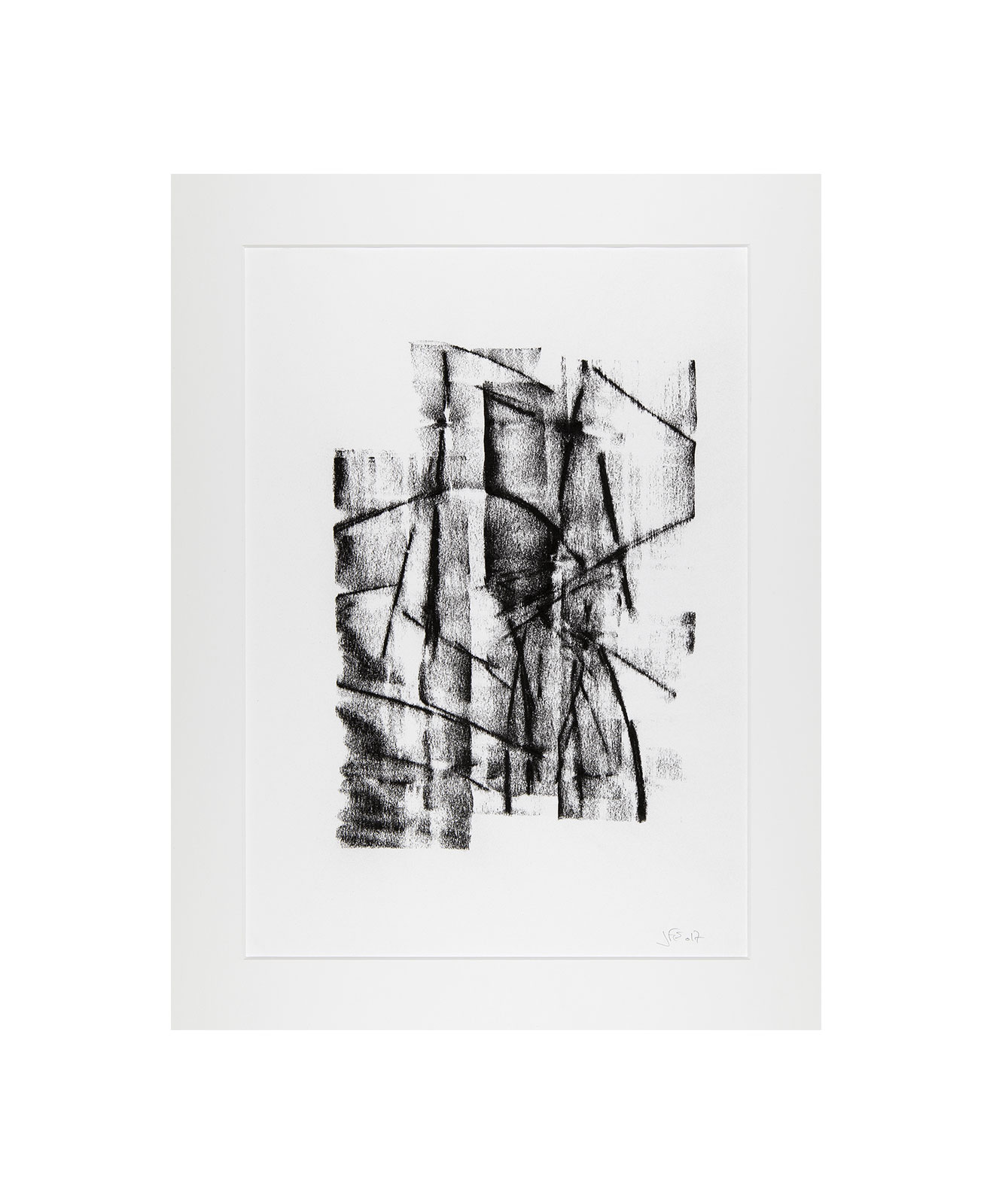Cha 1.5, Charcoal on paper, black and white artwork, drawing, jf escande, contemporary art