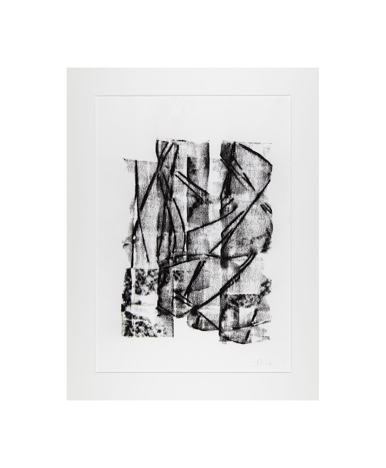Cha 1.6, Charcoal on paper, black and white artwork, drawing, jf escande, contemporary art