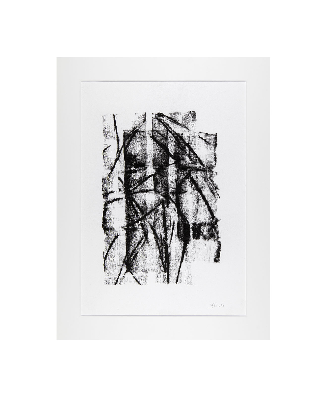 Cha 1.7, Charcoal on paper, black and white artwork, drawing, jf escande, contemporary art