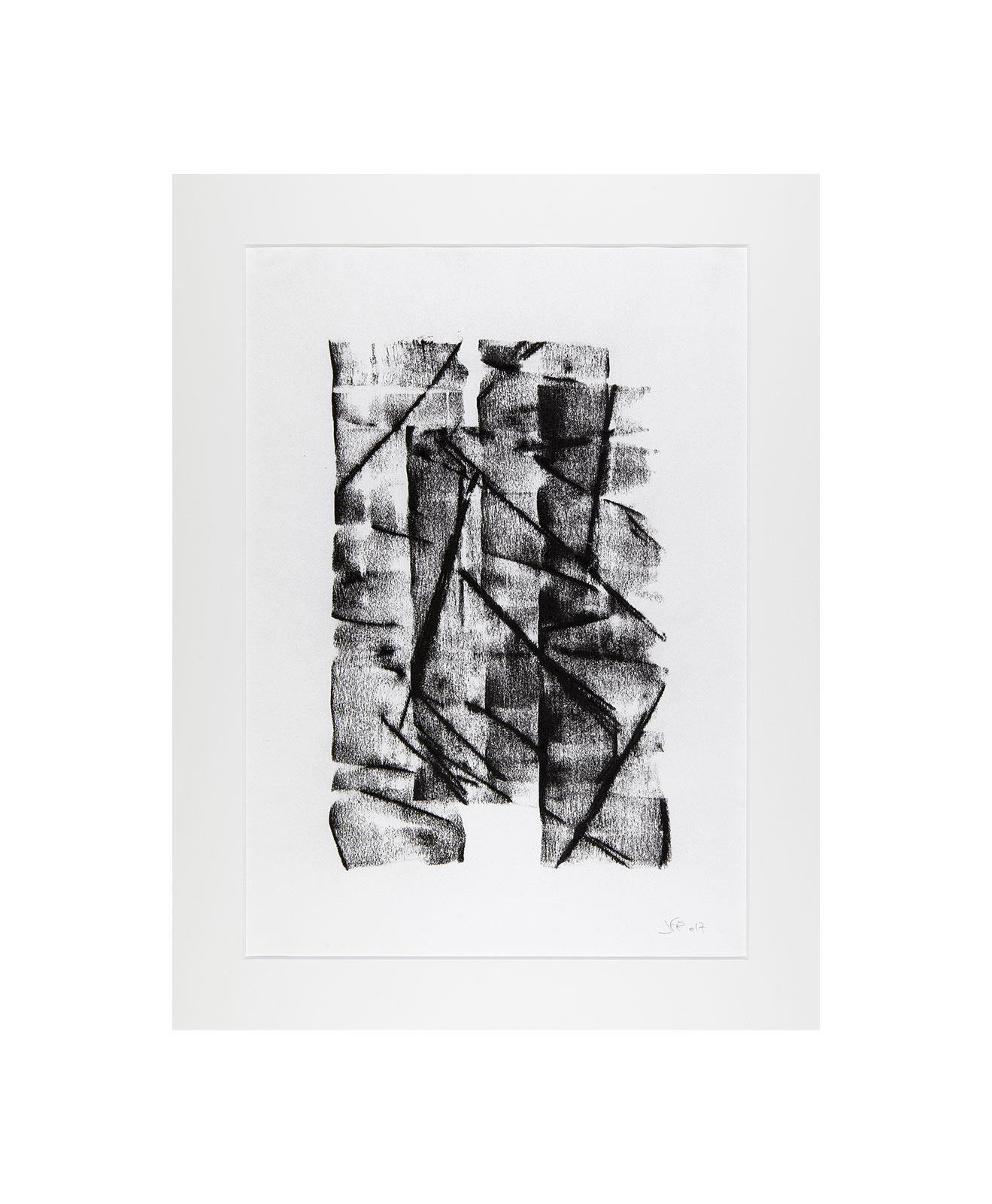 Cha 1.8, Charcoal on paper, black and white artwork, drawing, jf escande, contemporary art