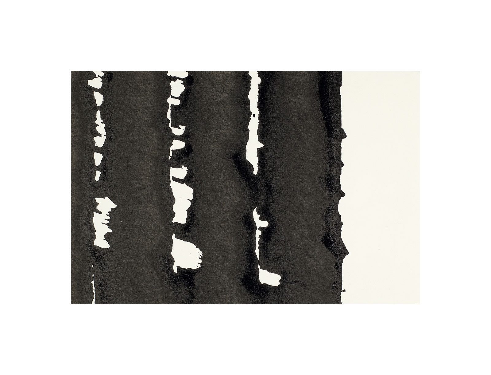 Ink 6.3, indian ink on paper, black and white artwork, jf escande, contemporary art